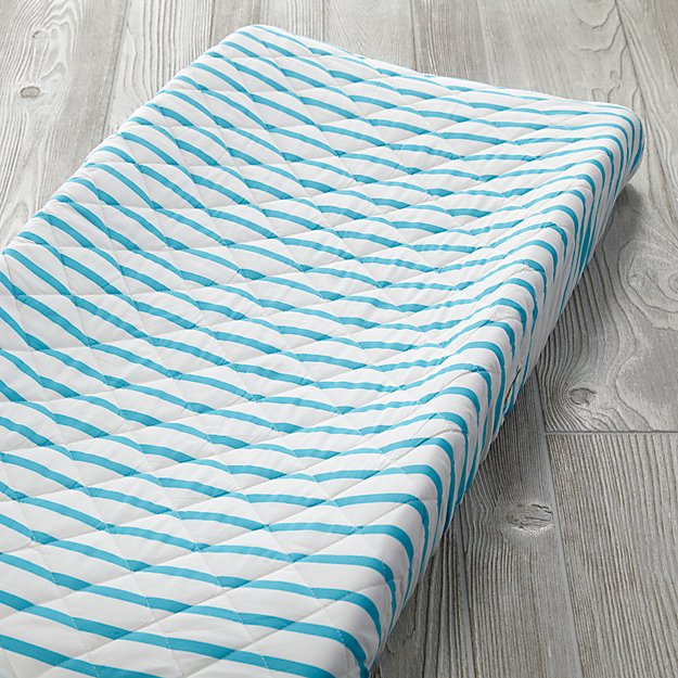 Early Edition Changing Pad Cover (Blue Stripe)