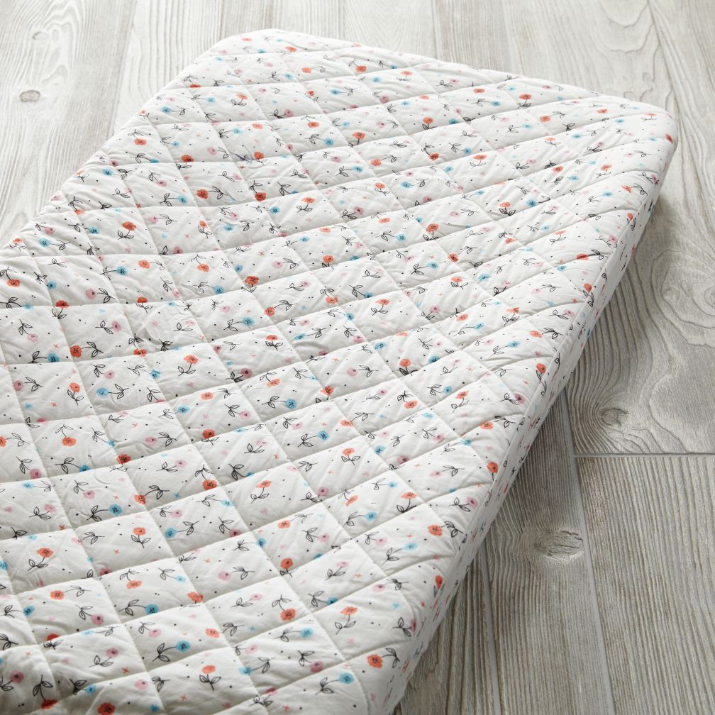 Far, Far Away Changing Pad Cover (Floral)