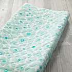 Mint Floral Go Lightly Changing Pad Cover