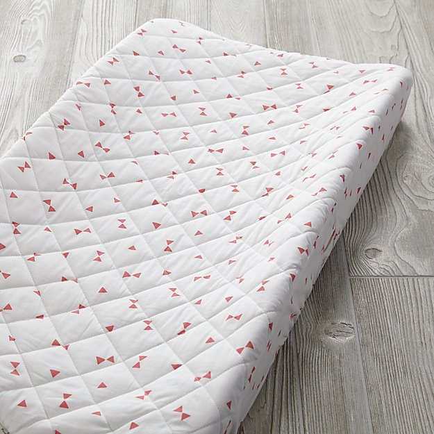 Go Lightly Changing Pad Cover (Pink Triangle)
