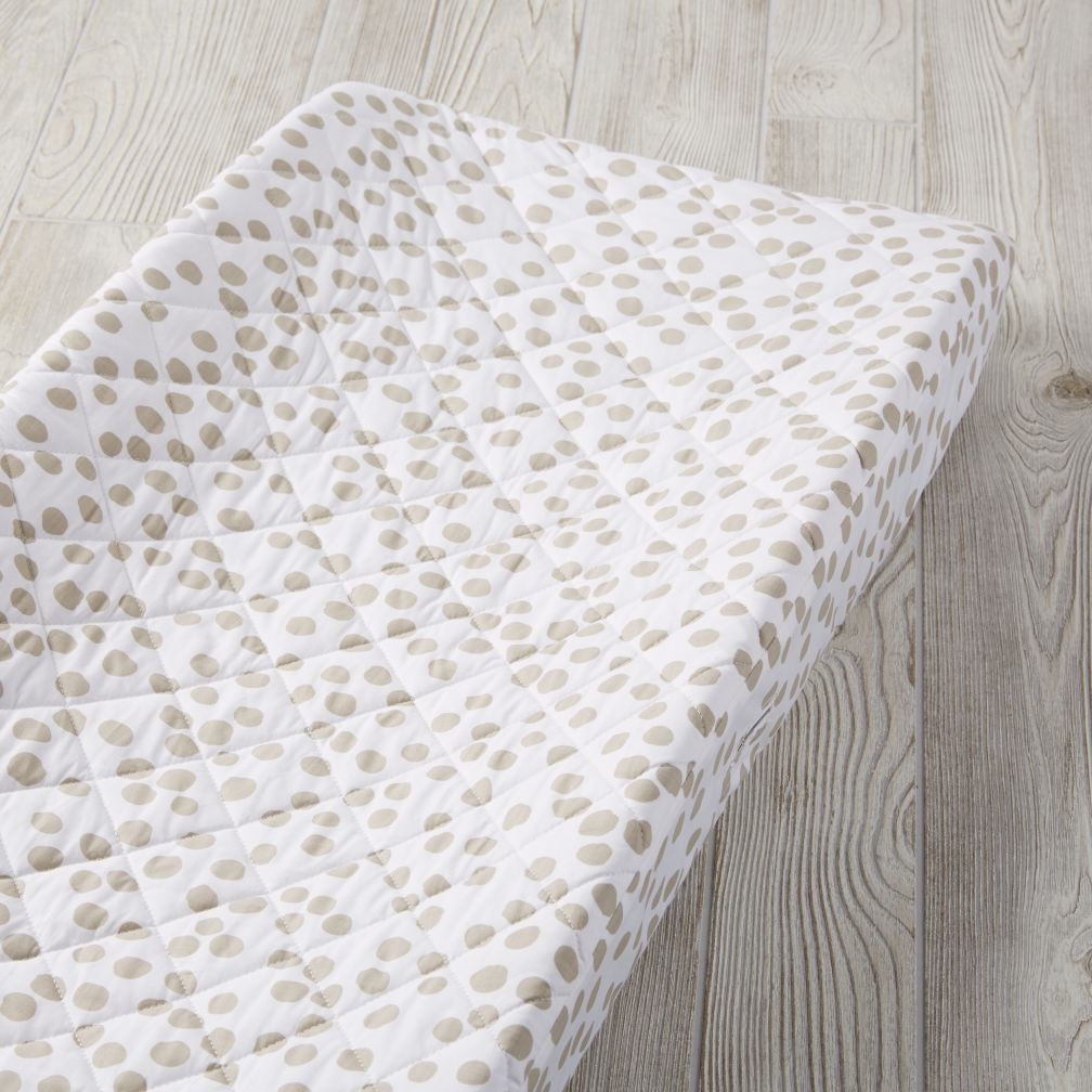 Mod Botanical Grey Dot Changing Pad Cover