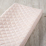 Mod Pink Stripe Changing Pad Cover