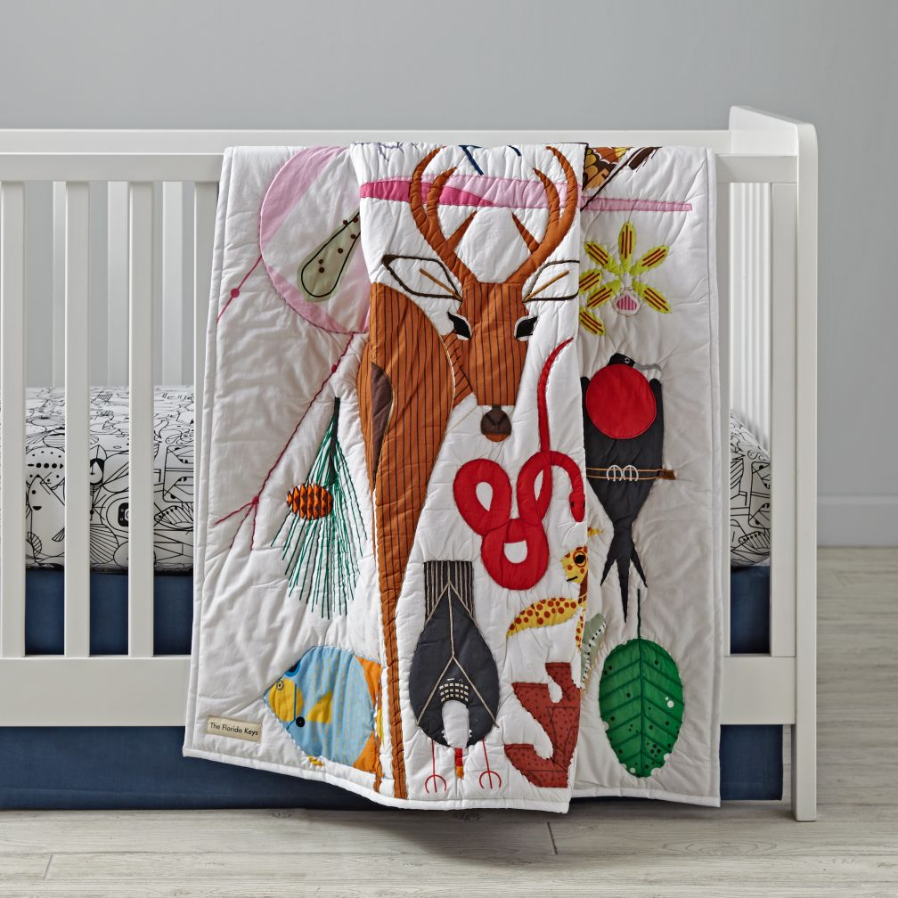 Charley Harper Florida Keys Crib Bedding