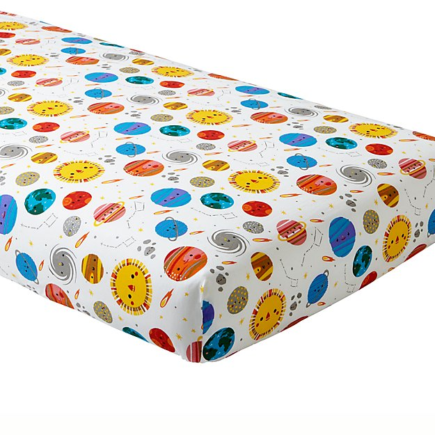Organic Deep Space Crib Fitted Sheet