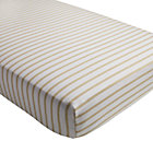 Early Edition Khaki Stripe Crib Fitted Sheet