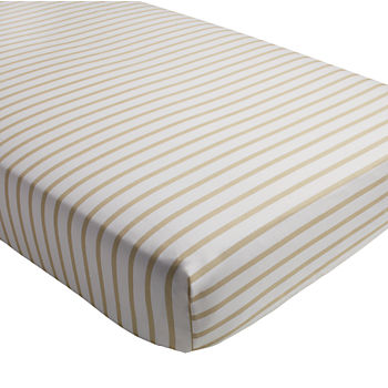 Early Edition Crib Fitted Sheet (Khaki Stripe)