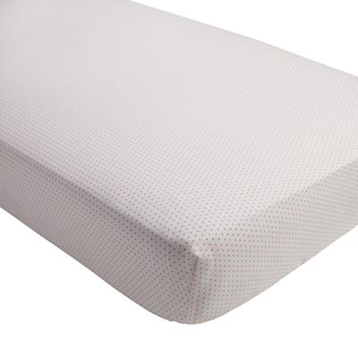 Early Edition Crib Fitted Sheet (Pink Dot)