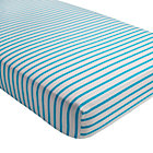 Early Edition Blue Stripe Crib Fitted Sheet