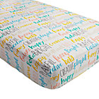 Early Edition Word Crib Fitted Sheet