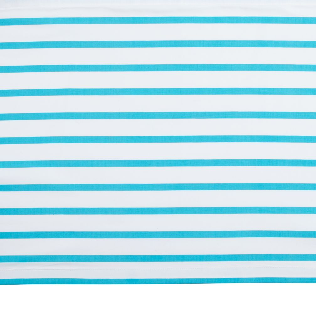 Early Edition Crib Skirt (Blue Stripe)