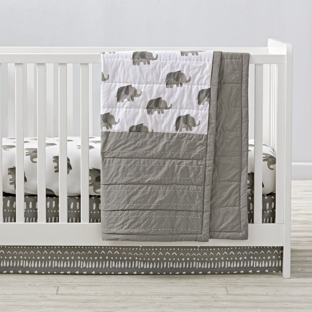 Wild Excursion Elephant Baby Quilt