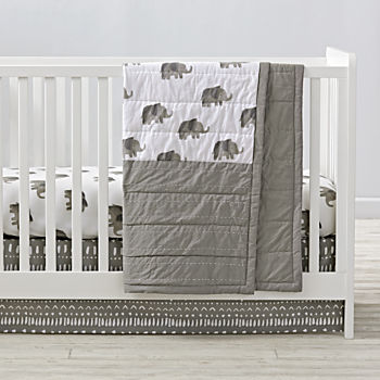 Wild Excursion Elephant Crib Bedding (3-Piece Set)