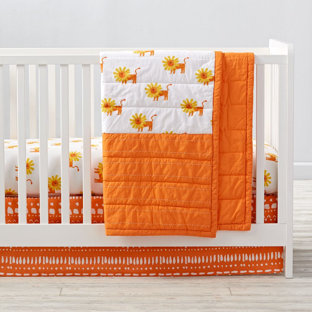 wild excursion lion crib bedding  the land of nod -