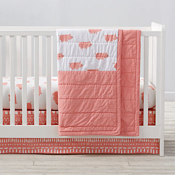 Wild Excursion Pig Crib Bedding (3-Piece Set)
