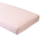 Organic Wild Excursion Pink Stripe Fitted Crib Sheet