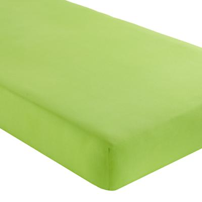 Fine Prints Crib Fitted Sheet (Green)