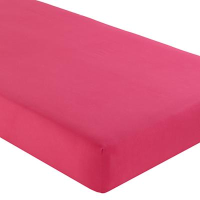 Fine Prints Crib Fitted Sheet (Dk. Pink)