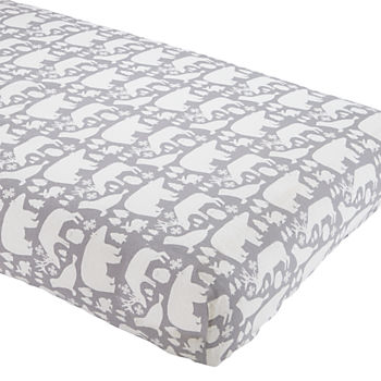 Great White North Flannel Crib Sheet