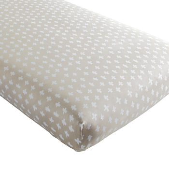 Organic Freehand Crib Fitted Sheet