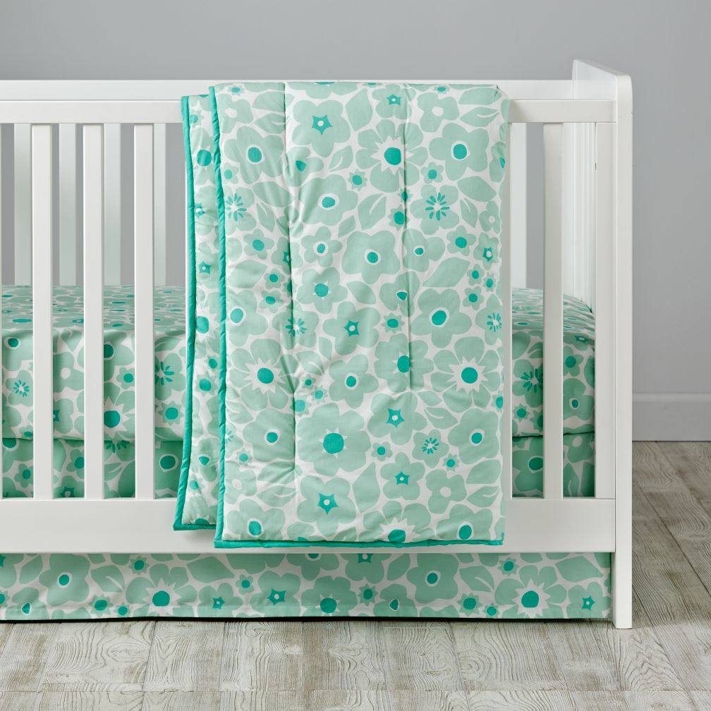 Go Lightly Crib Bedding (Mint)