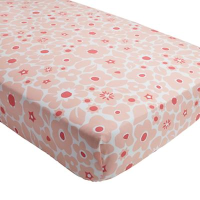 Go Lightly Crib Fitted Sheet (Pink Floral)