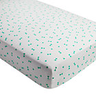Mint Triangle Go Lightly Crib Fitted Sheet