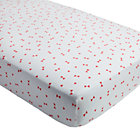 Pink Triangle Go Lightly Crib Fitted Sheet