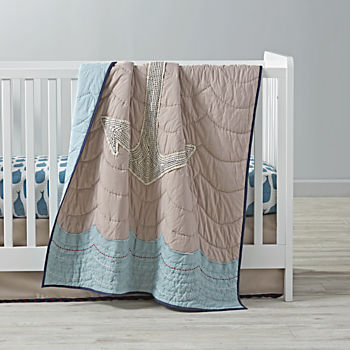High Seas Blue Crib Bedding (3-Piece Set)