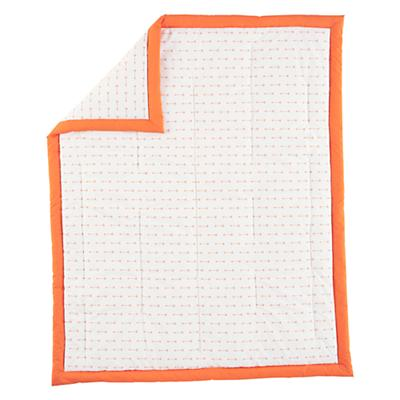 Orange Iconic Baby Quilt (Arrow)