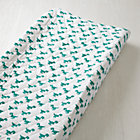 Green Dinosaur Little Prints Changing Pad Cover
