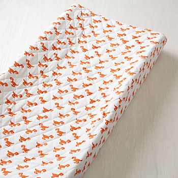 Little Prints Changing Pad Cover (Orange Dinosaur)