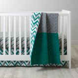 Little Prints Crib Bedding (Green)