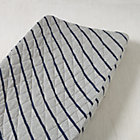 Blue Stripes Little Prints Changing Pad Cover
