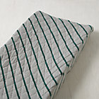 Green Jersey Stripe Little Prints Changing Pad Cover