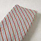 Orange Stripe Little Prints Changing Pad Cover