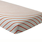 Orange Stripe Little Prints Crib Fitted Sheet