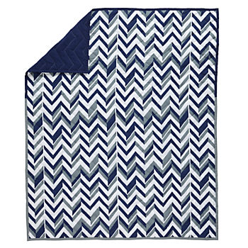 Little Prints Baby Quilt (Blue)