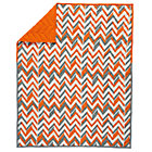 Orange Little Prints Zig Zag Baby Quilt