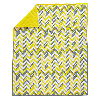 Little Prints Baby Quilt (Yellow)