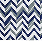 Blue Little Prints Zig Zag Crib Skirt
