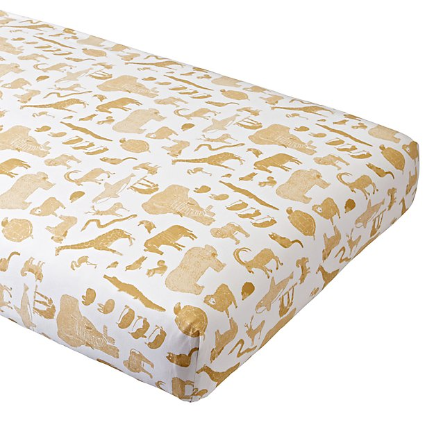 Menagerie Crib Fitted Sheet
