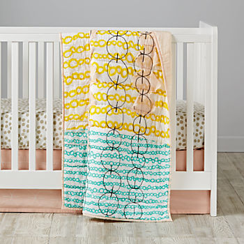 Mod Botanical Multicolor Crib Bedding (3-Piece Set)