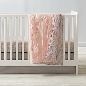 Modern Chic Pink Crib Bedding (3-Piece Set)