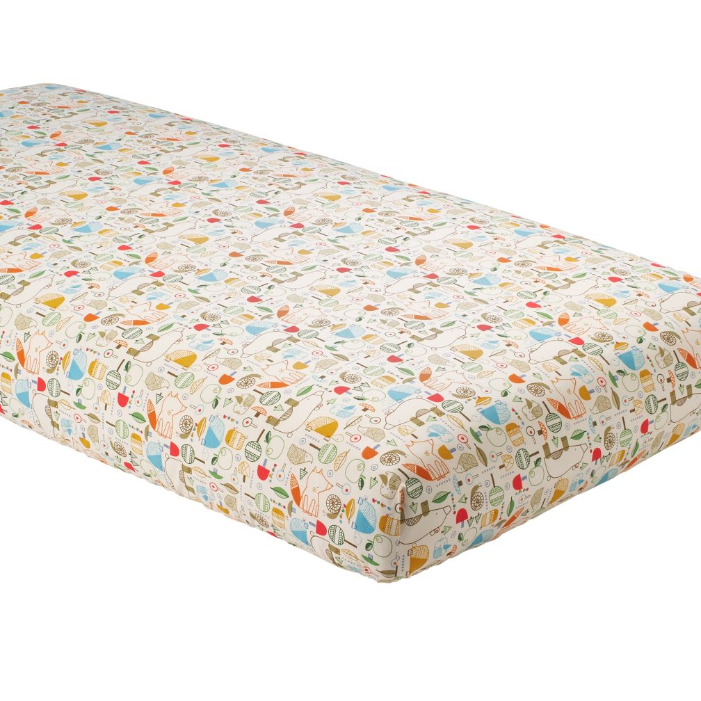 organic nature trail fitted crib sheet  the land of nod -