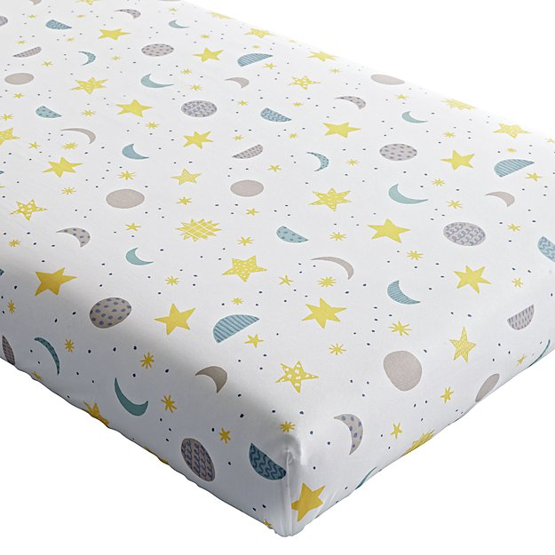Organic Nightfall Crib Fitted Sheet
