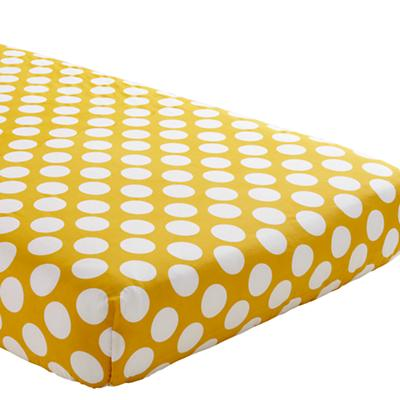 Organic Not a Peep Yellow w/ White Dot Crib Fitted Sheet
