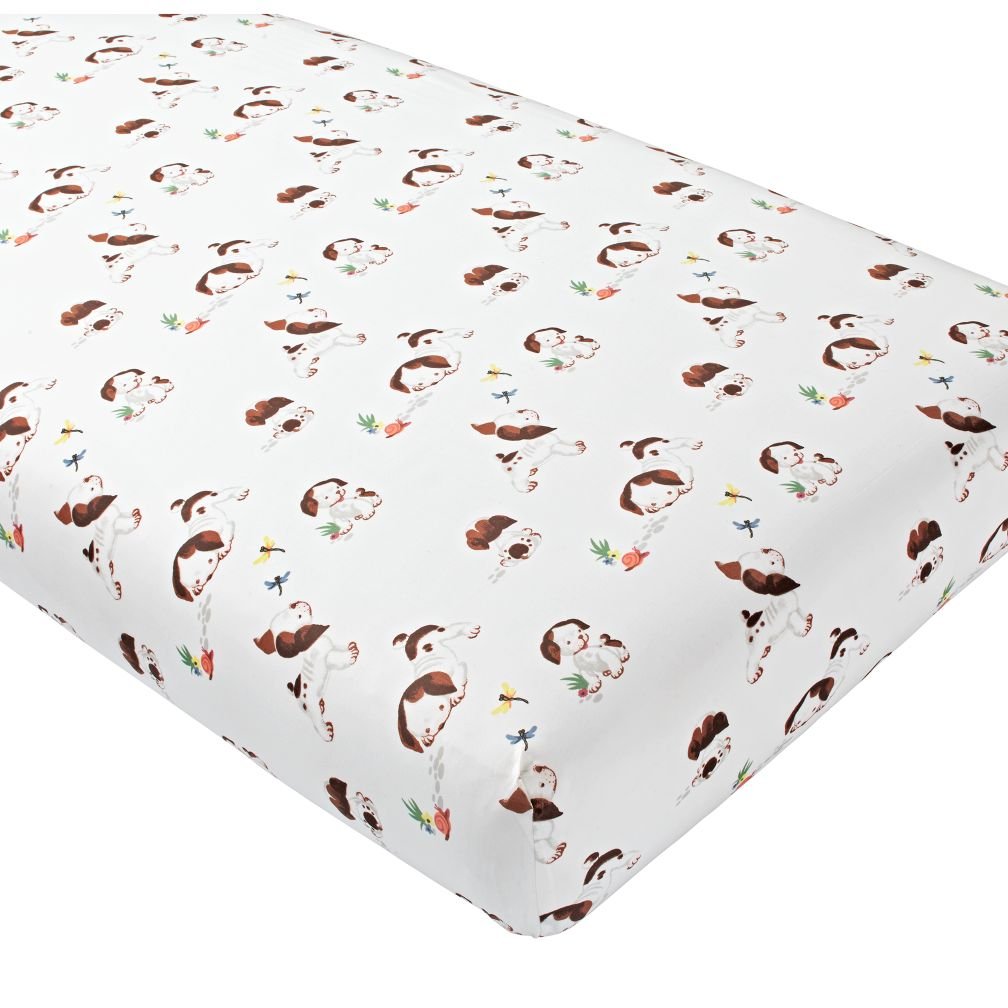 Organic Poky Little Puppy Crib Fitted Sheet