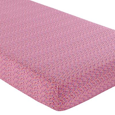 Princess & Pea Crib Fitted Sheet (Pink Multi Dot)