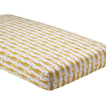 Organic Savanna Giraffe Fitted Crib Sheet