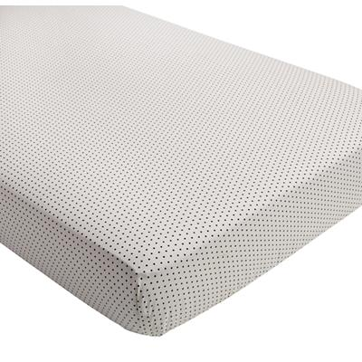 Mini Organic Swiss Dot Crib Fitted Sheet